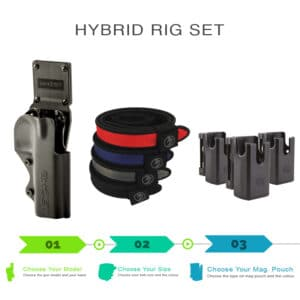 hybrid rig set with holsters shooting belt and magazine pouch