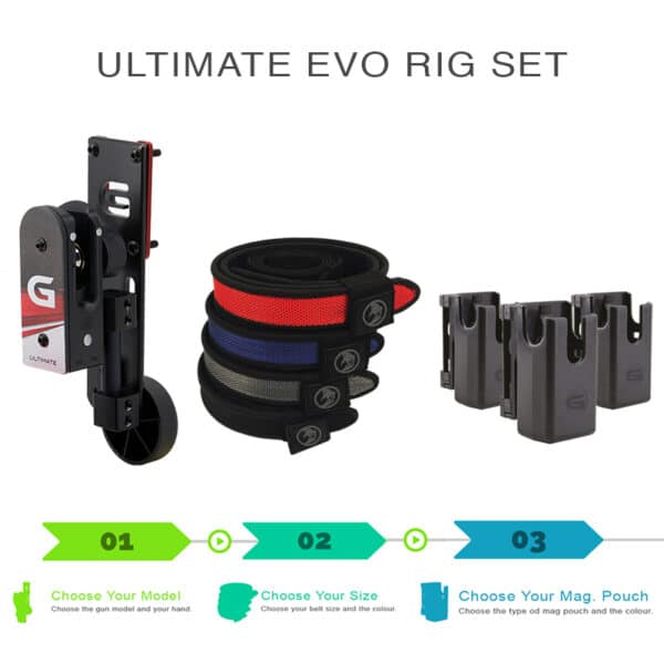 ultimate rig set with holster shooting belt and magazine pouch