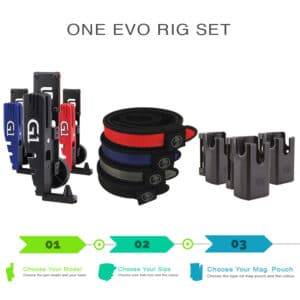 One evo rig set holsters with belt and magazine pouch