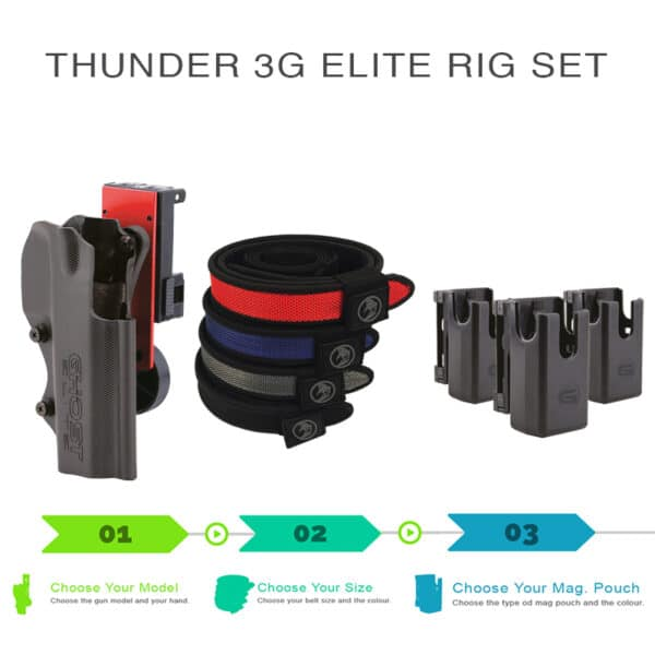 thunder 3G elite rig set with holsters shooting belt and magazine pouch