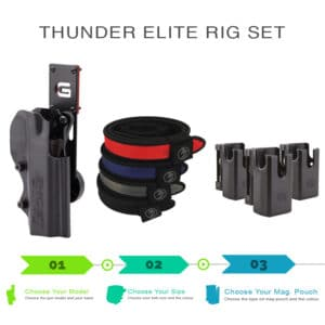 thunder elite rig set with shooting belt and magazine pouch