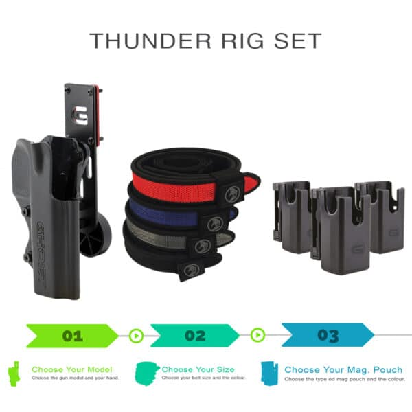 thunder rig set with holster shooting belt and magazine pouch